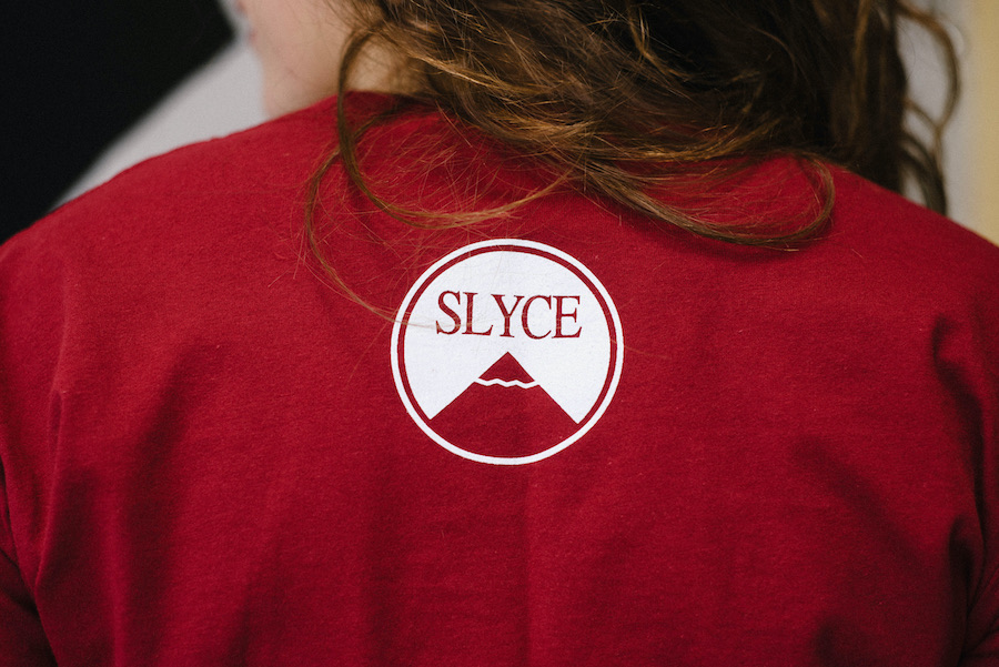 red slyce shirt back
